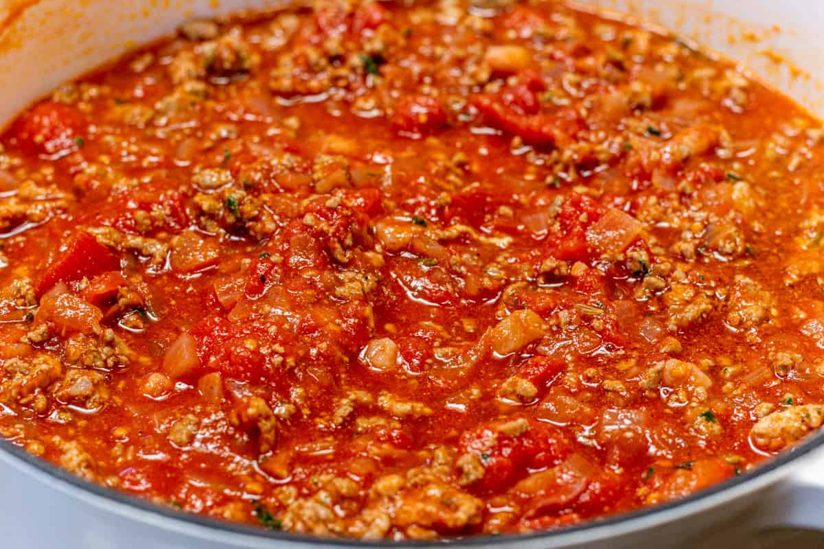 meat sauce ready