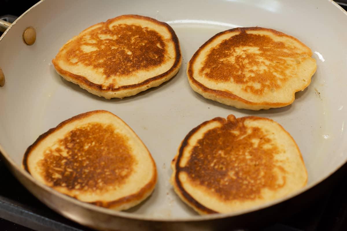 oat flour pancakes ready to serve.