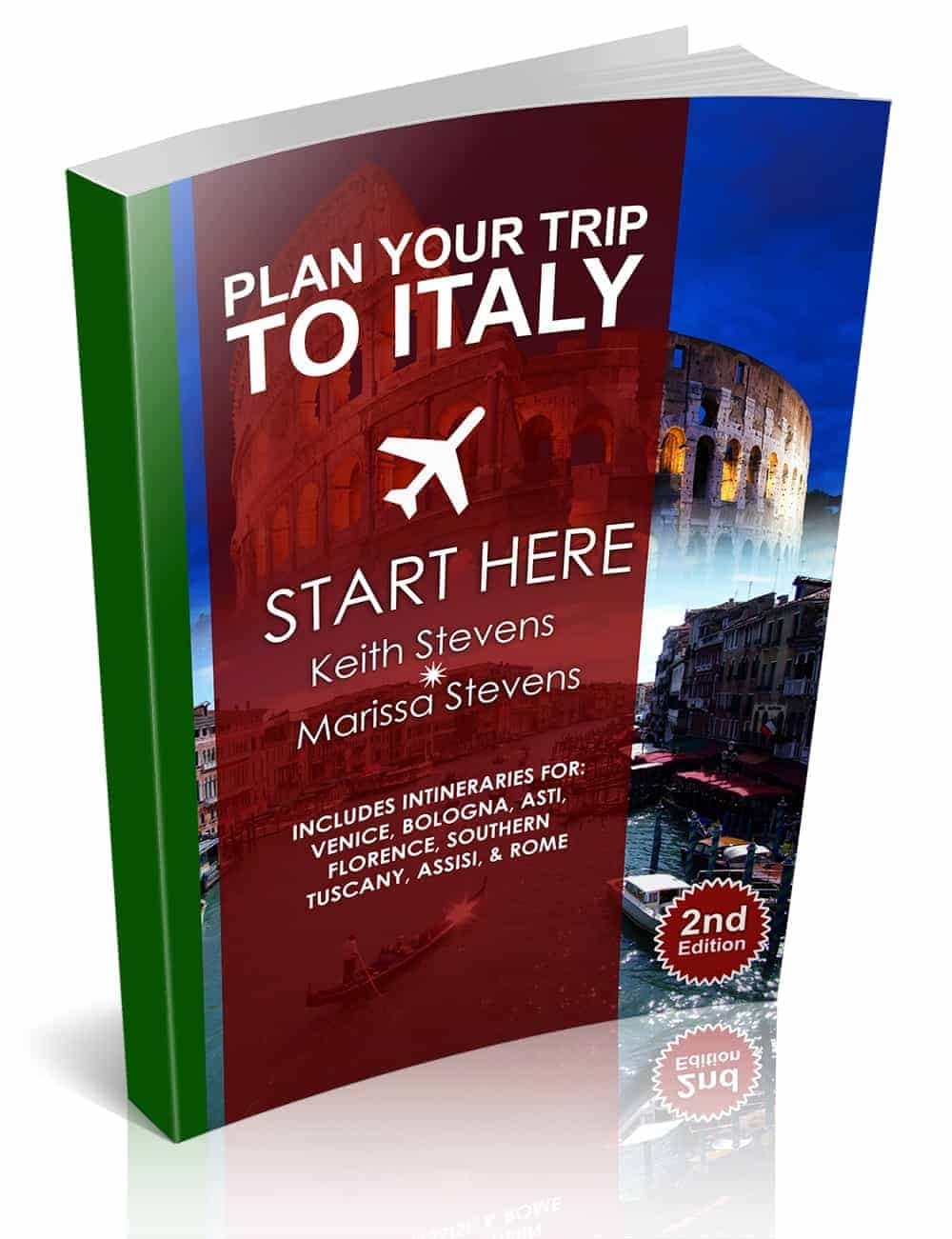 Italy Travel Guide Book Cover